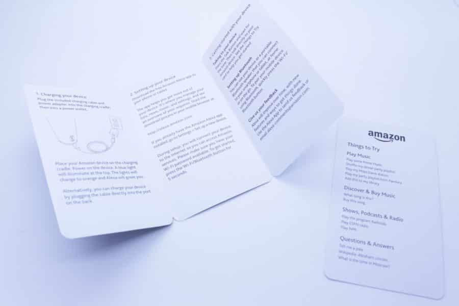 amazon tap manuel papier