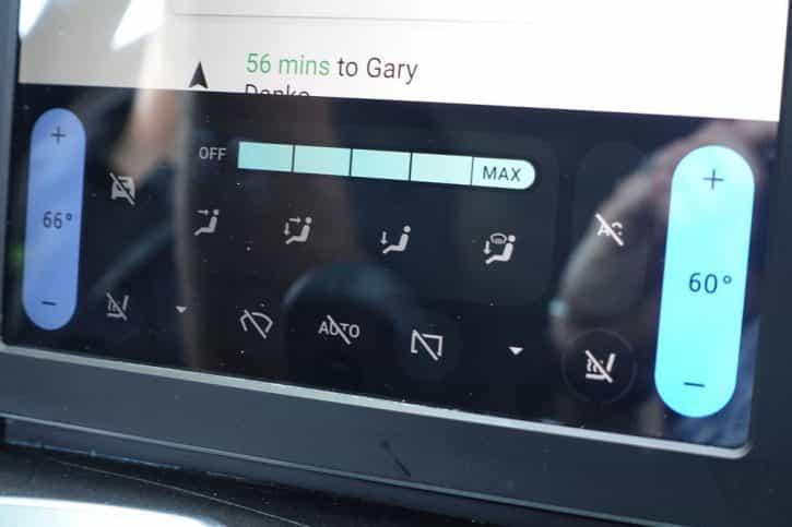 Controles Maserati avec Android Auto