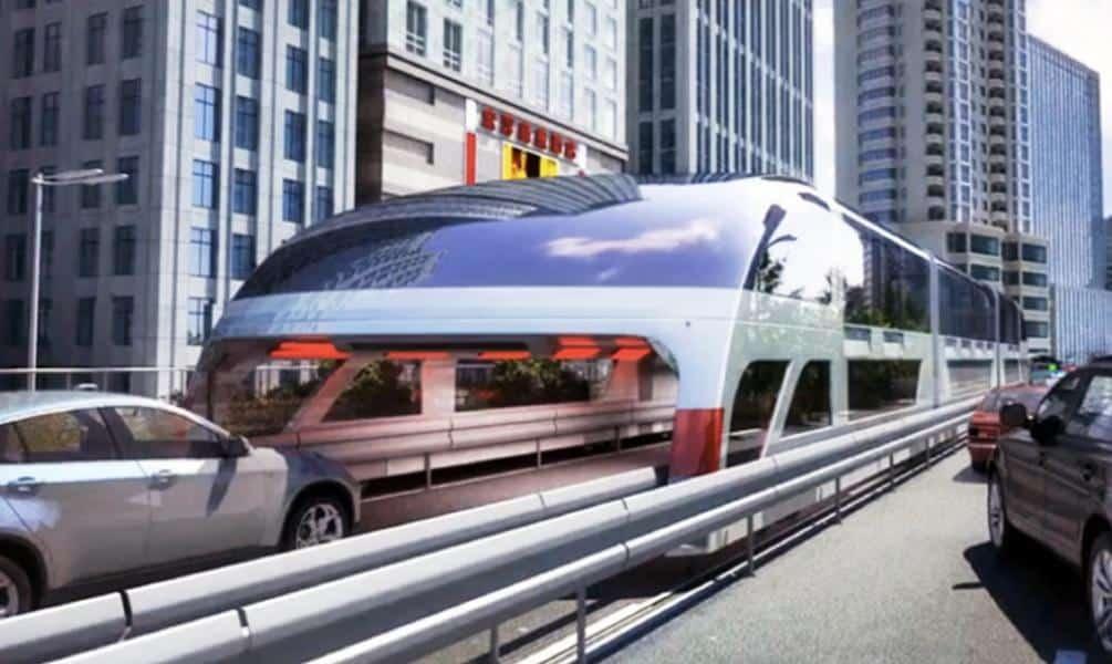 le bus du futur d barque en chine. Black Bedroom Furniture Sets. Home Design Ideas