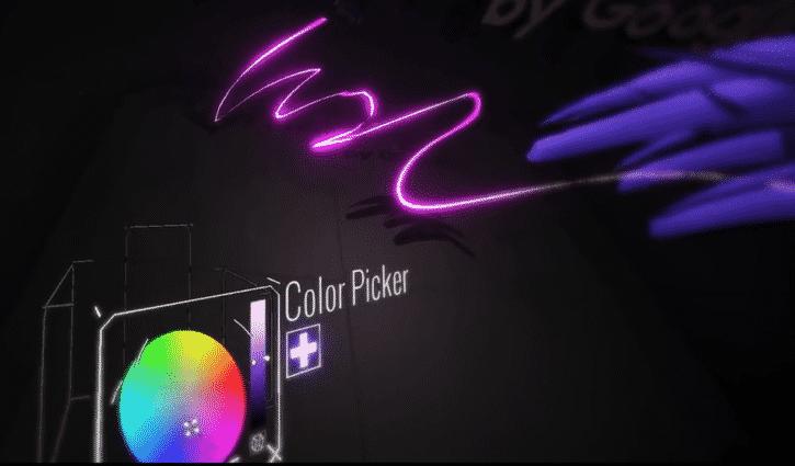 couleur tilt brush google pinceau
