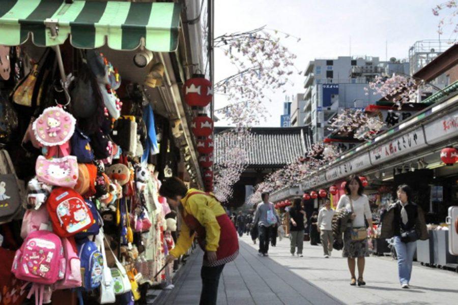 japon paiement sans contact touristes promenade