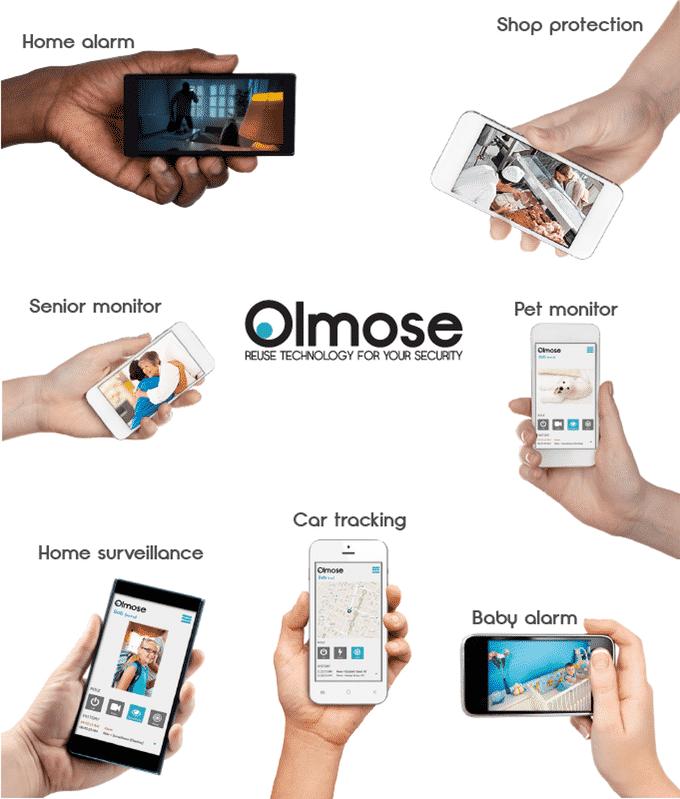 application Olmose gardien virtuel connecté