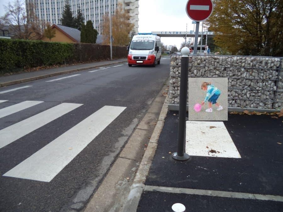 passage pieton intelligent fille streetart