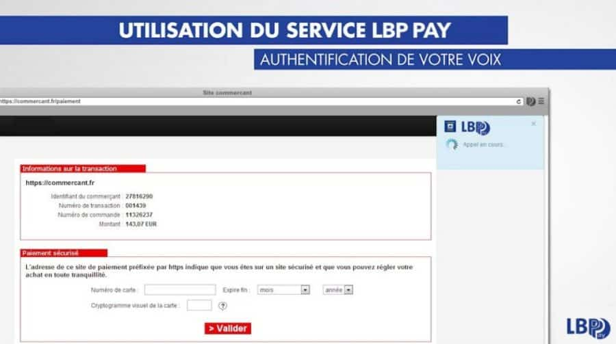 talk to pay paiement sans contact banque postale vue interface