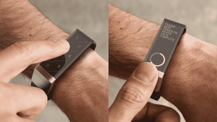 token paiement sans contact detail bracelet connecte