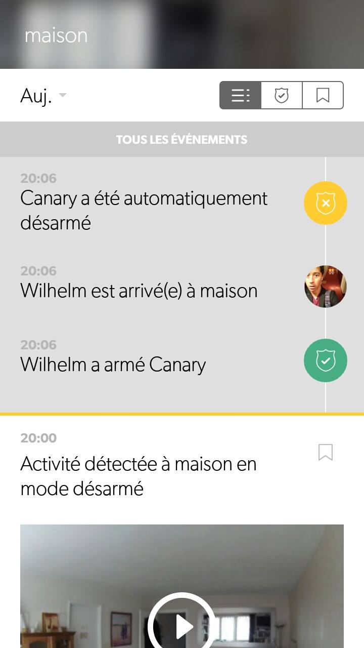 canary notification smartphone
