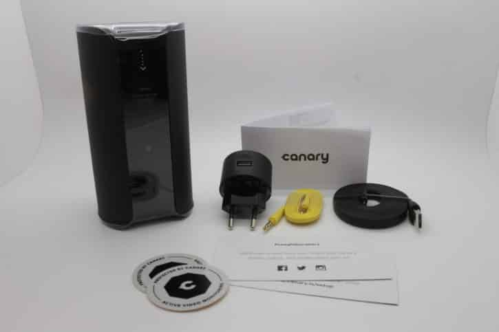 canary unboxing accessoires