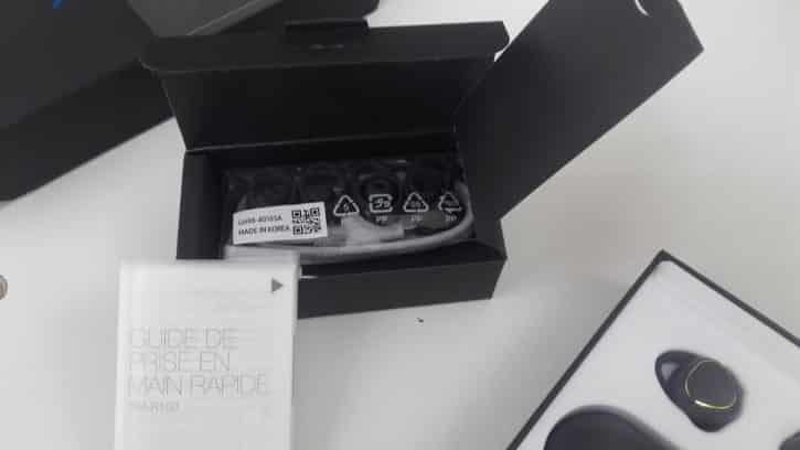 Contenu de la boîte des Samsung Gear IconX