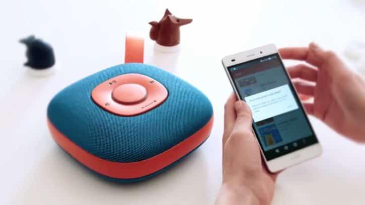 L'application permet d'envoyer sa musique sur l'appareil.