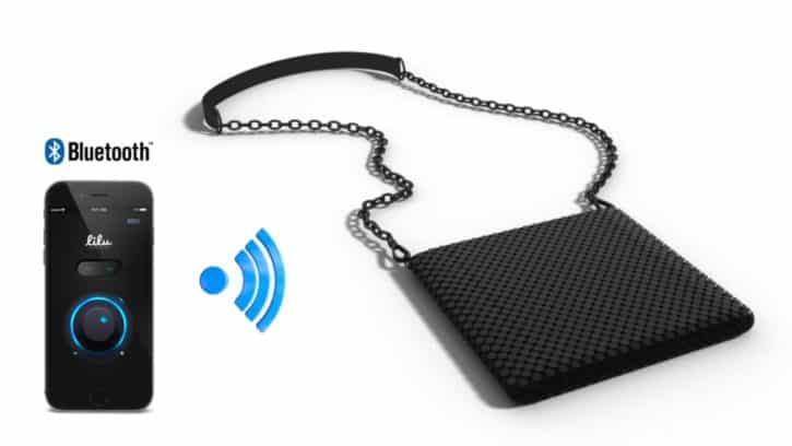 L'application smartphone permet d'allumer ou d'éteindre le sac Lilu.