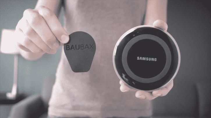 La batterie et le chargeur de la veste Baubax sont ultrafins et permettent de faire fonctionner le système.