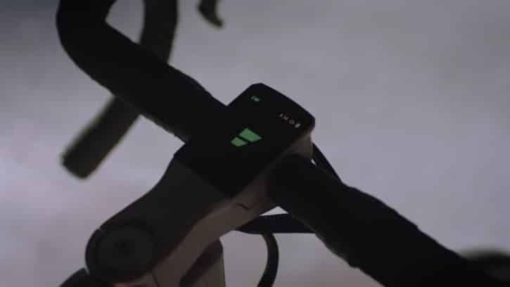 Le Volata est équipé d'un écran pour gérer ses fonctionnalités.