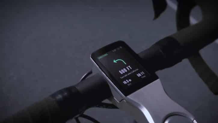 L'écran du Volata gère notamment le GPS.