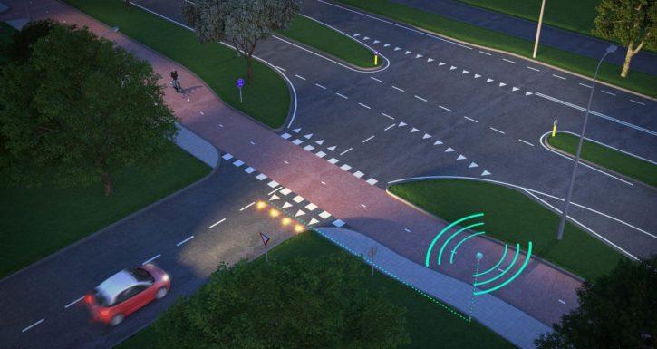 Cette technologie de smart road rend le cyclisme plus sûr en ville.