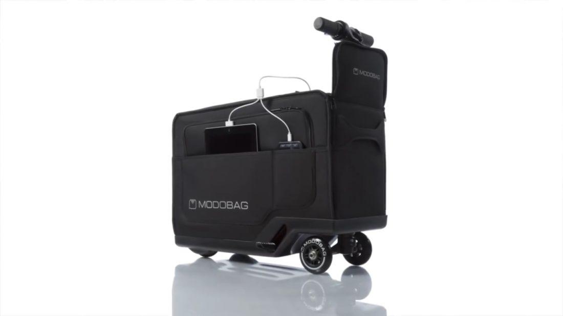 Modobag est une valise motorisée.