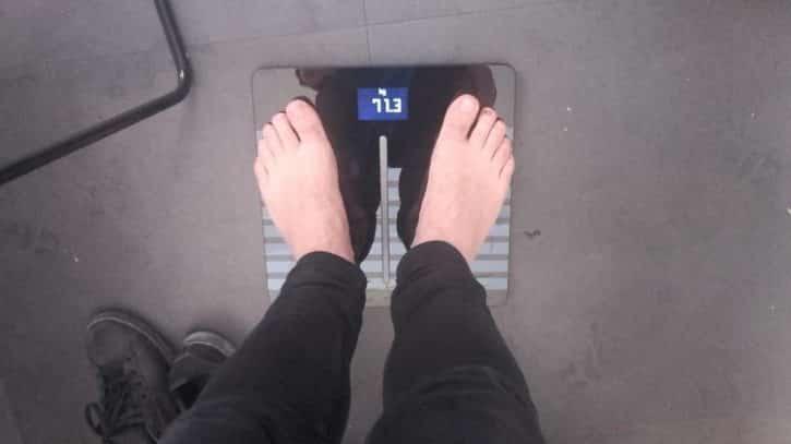Body Cardio première pesée