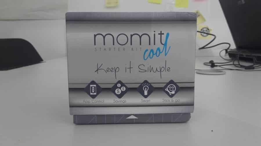Vue avant packaging Momit Cool