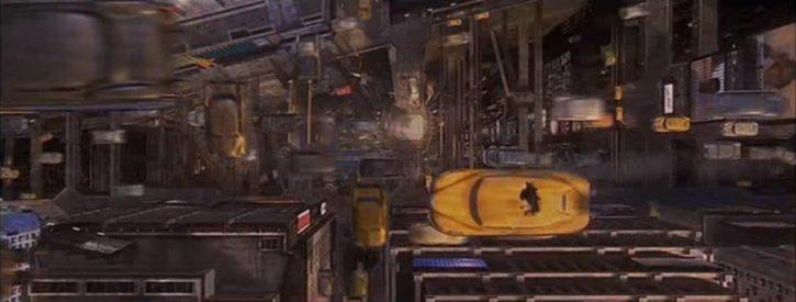 ville futur taxis volants
