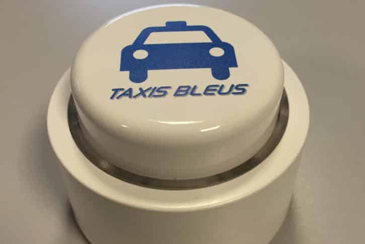 bouton connecté taxis bleus appel