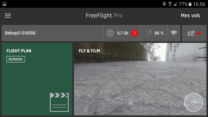 parrot bebop 2 application freeflight pro