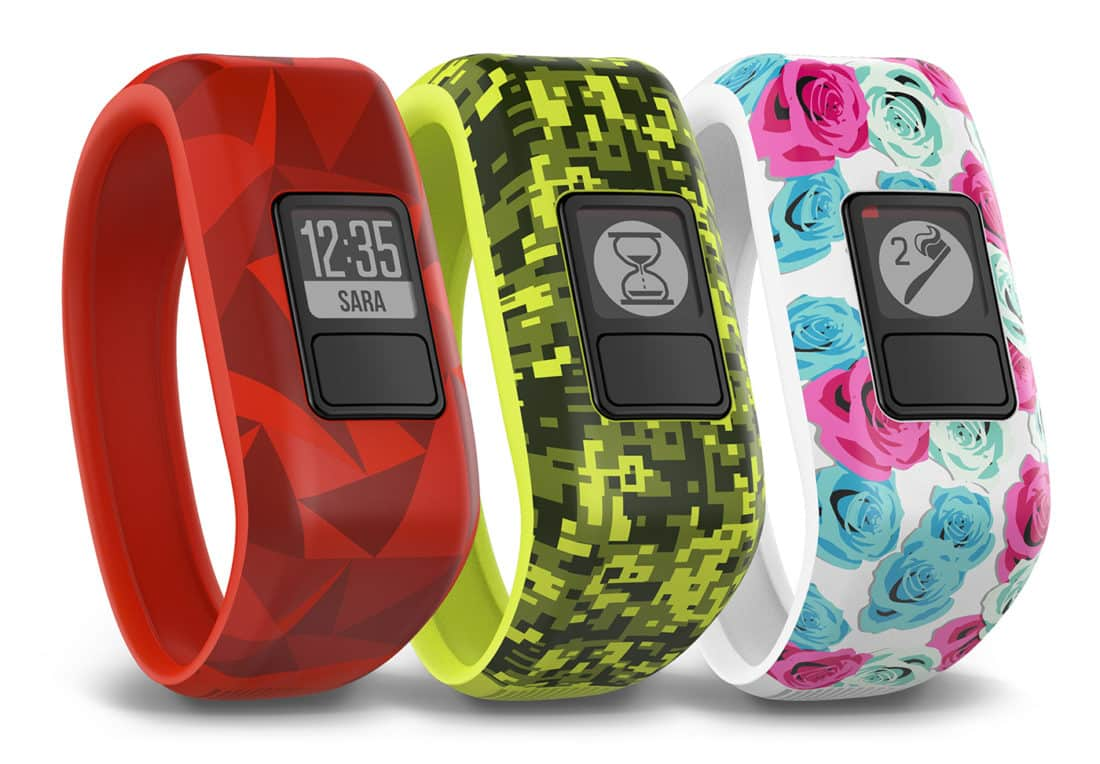 comparatif bracelets connectés Garmin vivofit Junior
