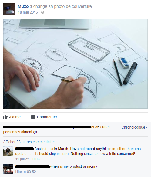 Muzo plaintes Facebook