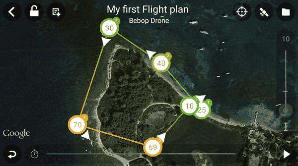 parrot application plan de vol