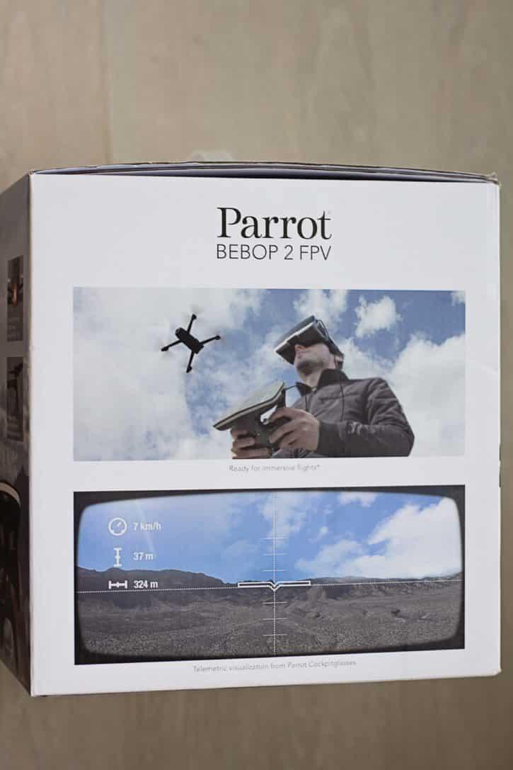 test parrot bebop 2 vue boîte fpv