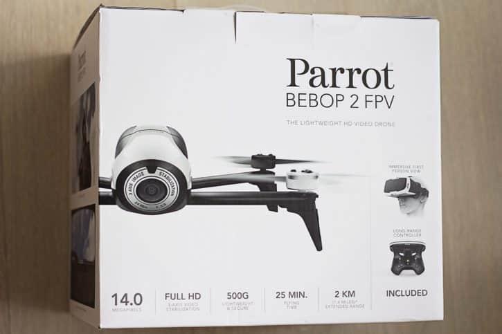 test parrot bebop 2 emballage
