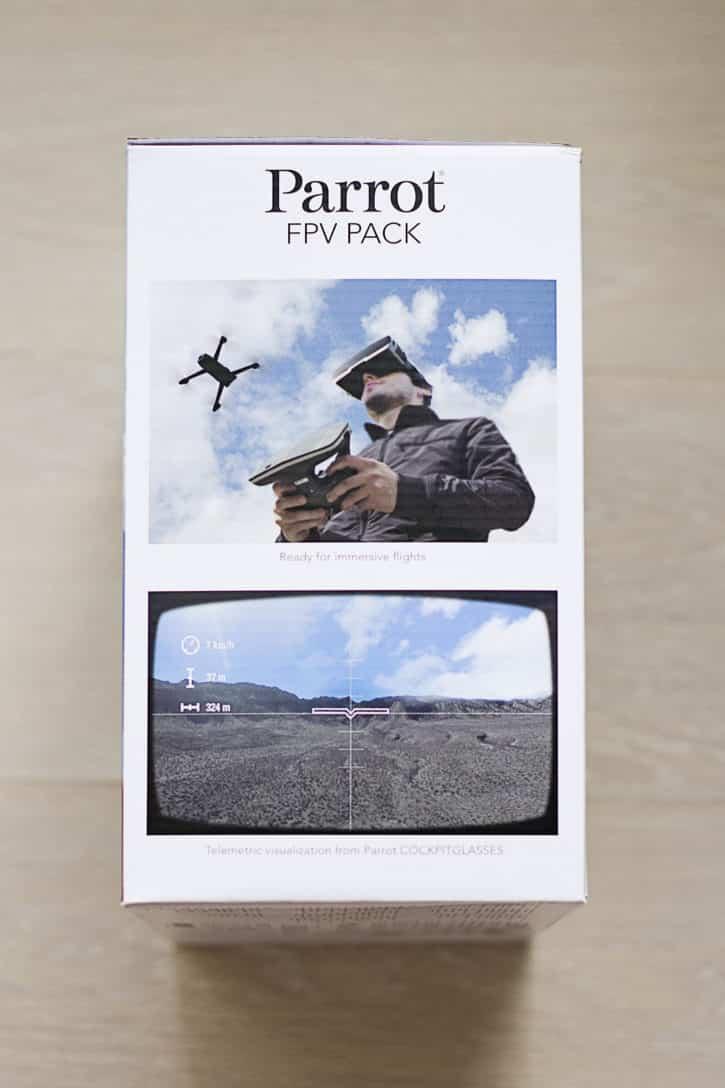 test parrot bebop 2 boîte vue d'en haut