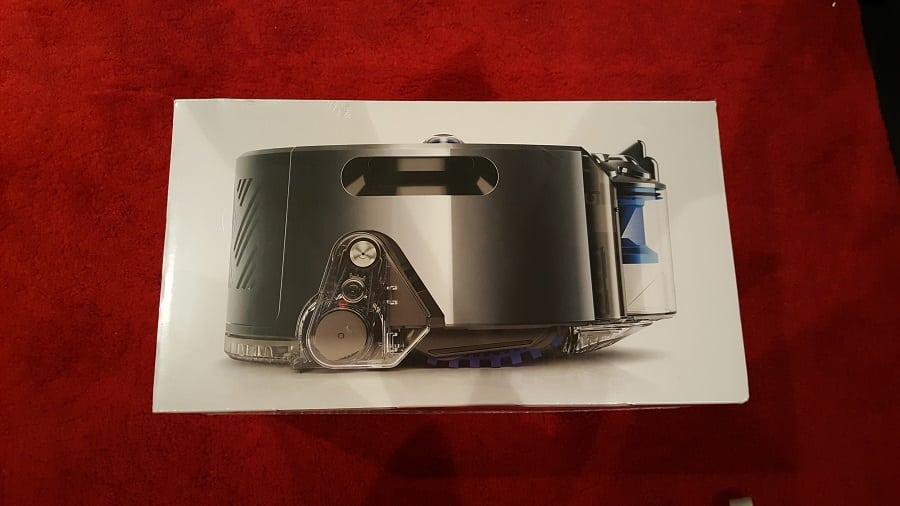 Unboxing Dyson 360 Eye boîte côté