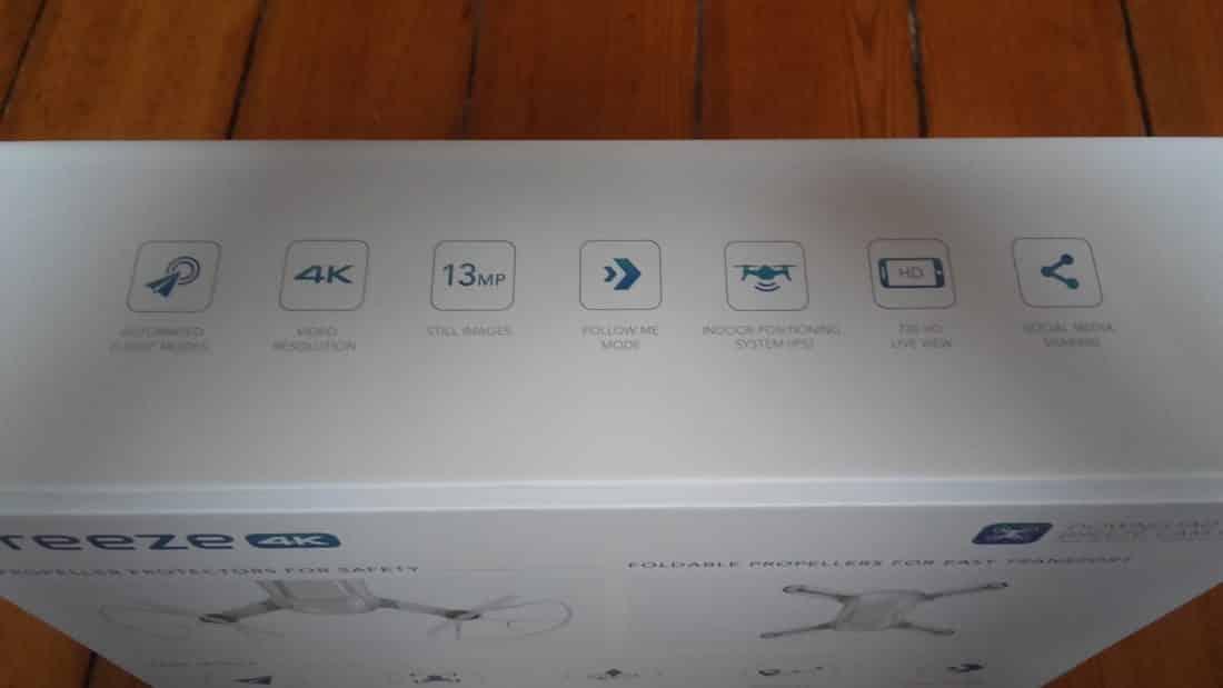 Unboxing Breeze 4k boîte tranche