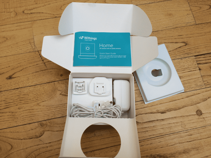 home de withings emballage