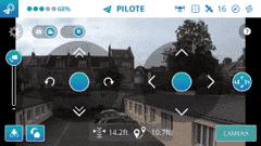 Application Breeze 4k écran de vol