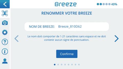 Application Breeze 4k réglages