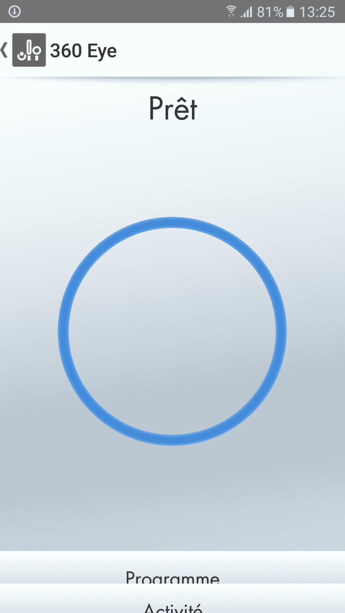 Application Dyson 360 Eye prêt