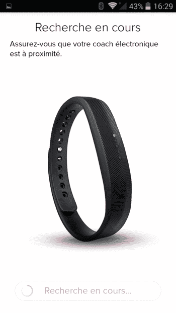 application fitbit flex 2 connexion