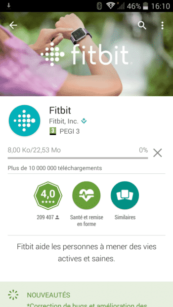application fitbit flex 2 test store