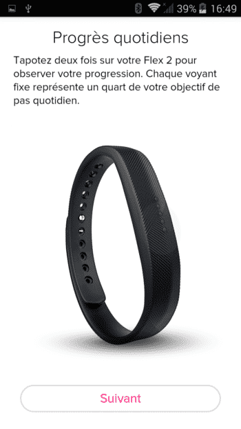 application fitbit flex 2 test bracelet fitness