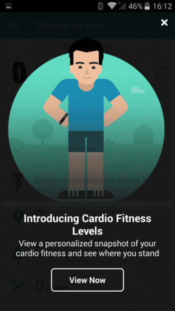application fitbit flex 2 test menu