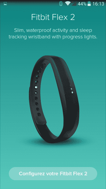 application fitbit flex 2 test bracelet