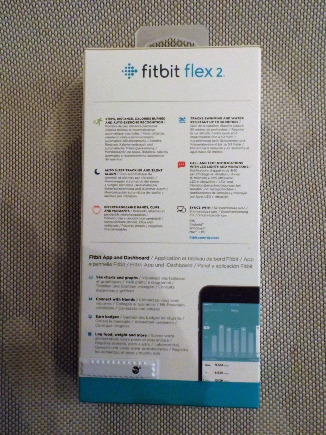 boite fitbit flex 2