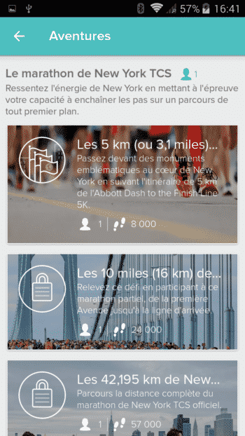 fitbit flex 2 test application fitness GPS parcours