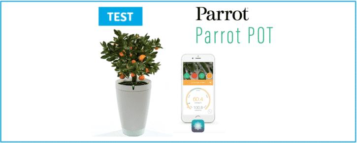 parrot pot pot de fleur connecte