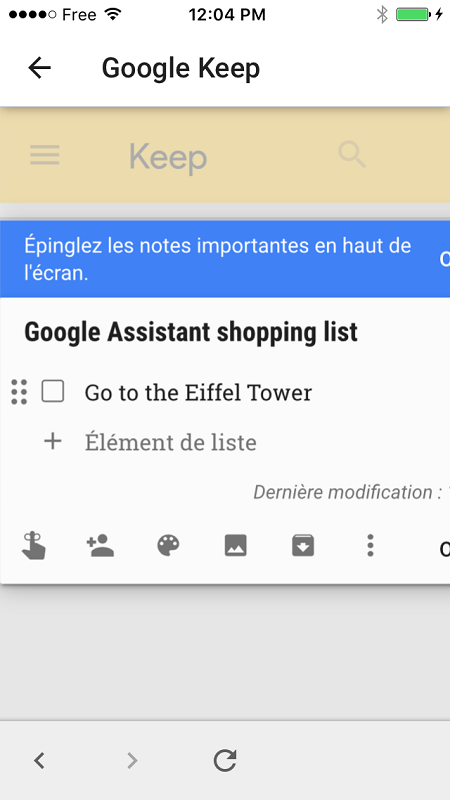 google home application notes