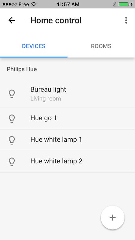 google home home control