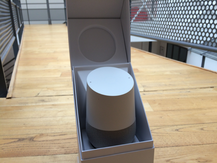 google home unboxing emballage ouvert