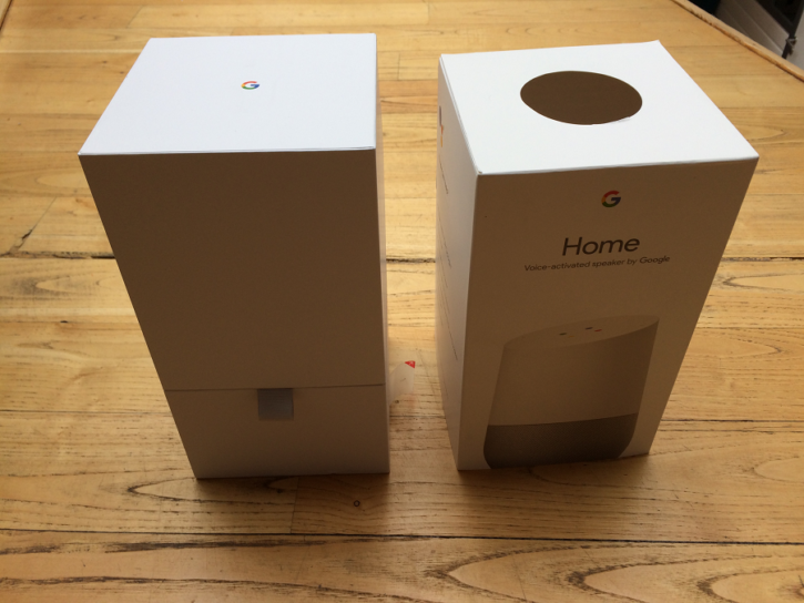 google home unboxing carton