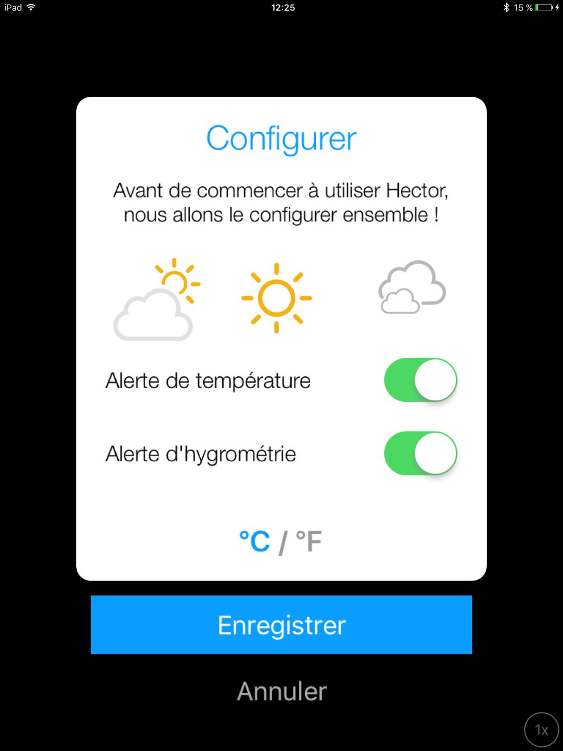 Application Hector configuration