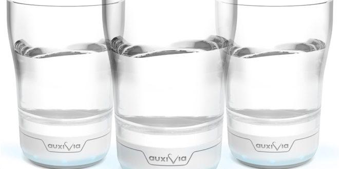 Auxivia verre connecté hydratation maison de retraite